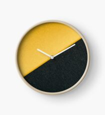 Gold Yellow And Charcoal Gray Abstract Geometric Background With Paper Texture Clock
