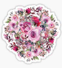 Bouquet of rose - wreath Sticker