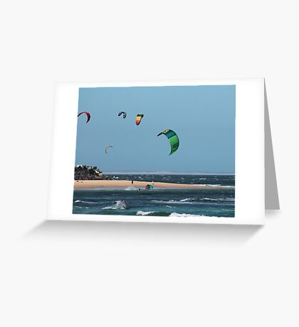 Kite Surfing @ Nobby's Greeting Card