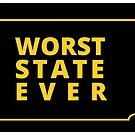 Worst State Ever - Black & Yellow by russianmachine