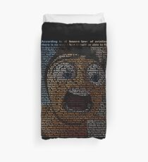 bee movie script Duvet Cover