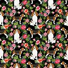 Beagle hawaiian dog pattern tropical pattern cute gifts for dog lover dog breeds by PetFriendly by PetFriendly