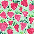 Aquarell Erdbeeren von Jacqueline Hurd
