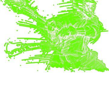 Crank (Neon Outline) by vinniericasio