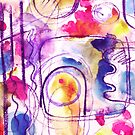 Abstract Composition - pink watercolour pattern by Cecca Designs by Cecca-Designs