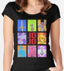 JoJo's Bizarre Adventure - Stands and Weapons Women's Fitted Scoop T-Shirt