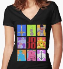 JoJo's Bizarre Adventure - Stands and Weapons Women's Fitted V-Neck T-Shirt