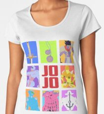 JoJo's Bizarre Adventure - Stands and Weapons Women's Premium T-Shirt