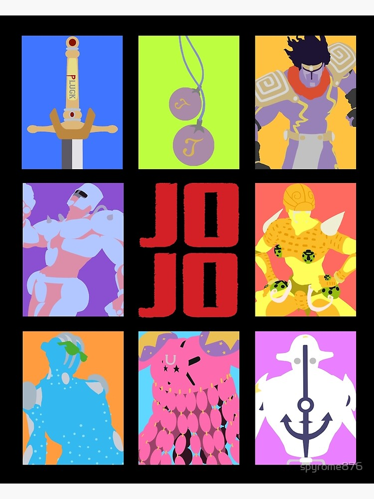 JoJo's Bizarre Adventure - Stands and Weapons | Canvas Print