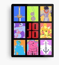 JoJo's Bizarre Adventure - Stands and Weapons Metal Print