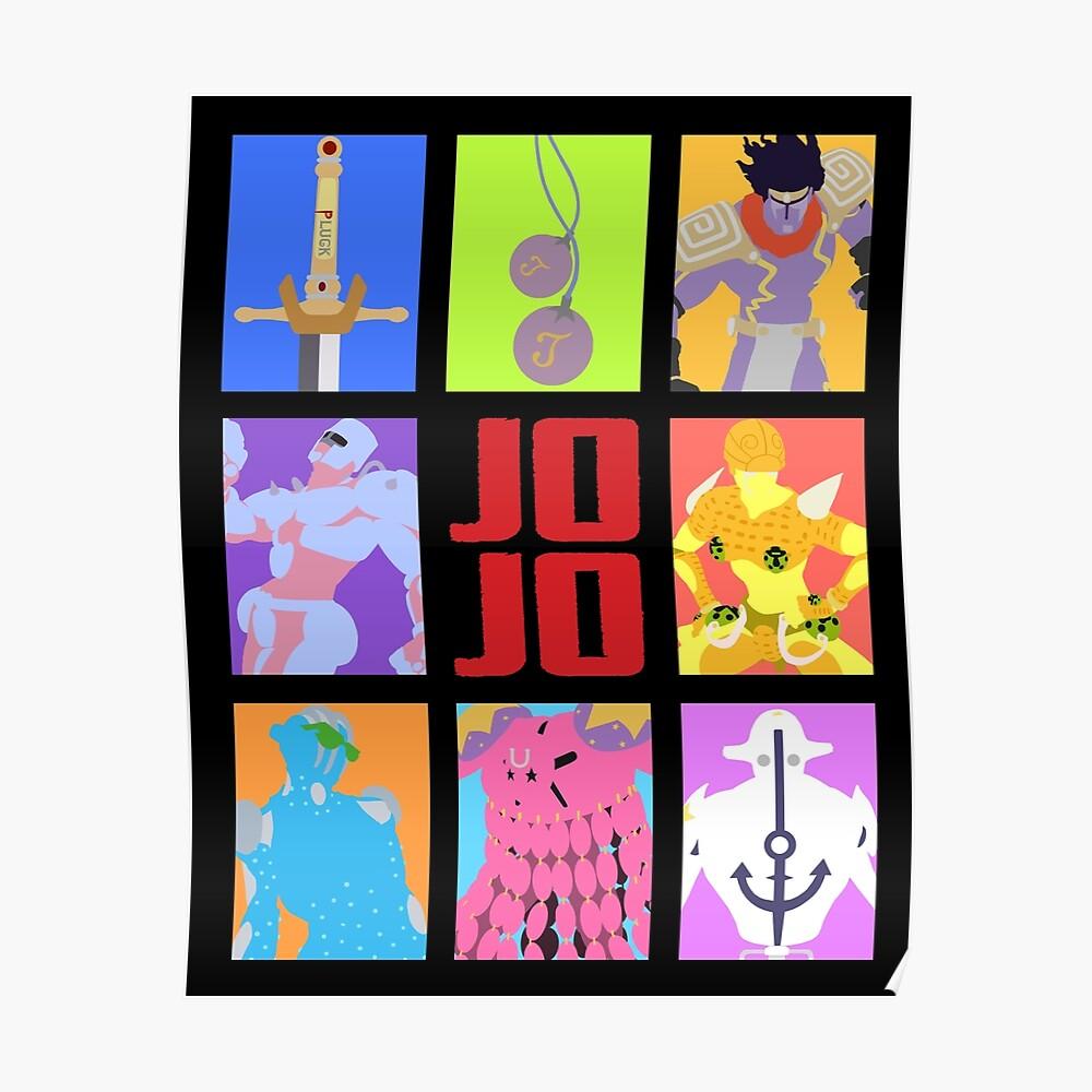 JoJos bizarres Abenteuer - Stände und Waffen Poster