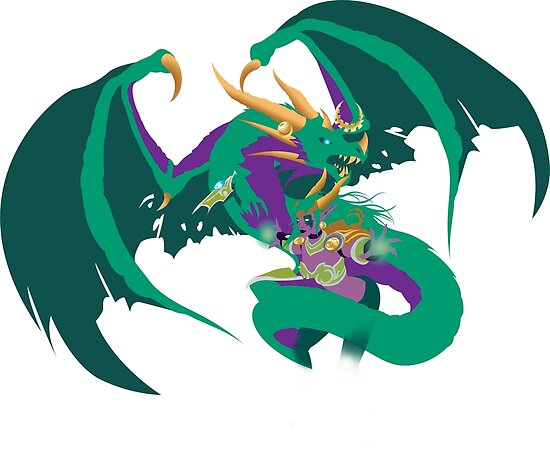 ysera and her dragon form posters by oeildenuit redbubble