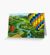 River Balloons Greeting Card