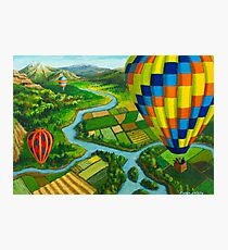 River Balloons Photographic Print