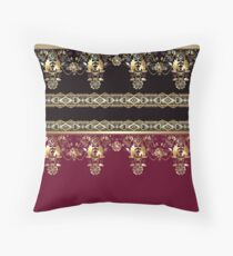 texture Gold lace  Throw Pillow