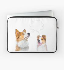 Border collie adult and puppy  Laptop Sleeve