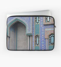 Colorful mosaic facade from mosque. Laptop Sleeve