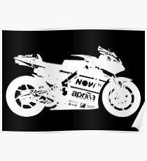 Aprilia RS GP 2017 MotoGP Bike (White) Poster