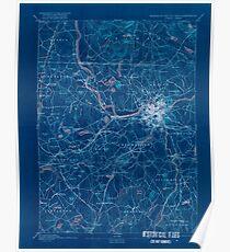 Massachusetts  USGS Historical Topo Map MA Lowell 352811 1893 62500 Inverted Poster