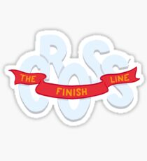 Cross the finish line Sticker