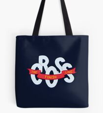 Cross the finish line Tote Bag