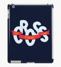 Cross the finish line iPad Case/Skin
