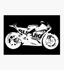 Suzuki GSX-RR 2017 MotoGP Bike (White) Photographic Print