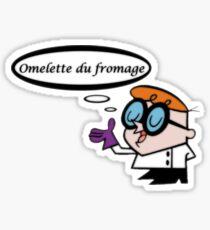 French Dexter  Sticker