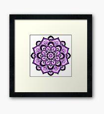 Violet watercolor mandala Framed Print