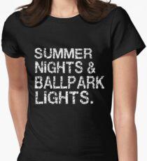 Summer Nights & Ballpark Lights Women's Fitted T-Shirt