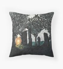 Through the Stones Throw Pillow
