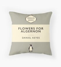 Penguin Classics Flowers for Algernon (World Affairs Colour-way alternative) Throw Pillow