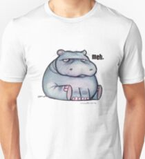Meh Hippo Unisex T-Shirt