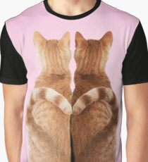 Ginger cats with love heart tails Graphic T-Shirt