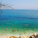 Blue sea in Corfu by loiteke