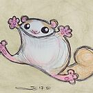 Flying Squirrel Tackle Hug by Sonya Craig