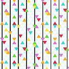 Stripes & Triangles Pattern by jezkemp