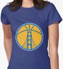 Warriors The Bridge - Blue on Gold Womens Fitted T-Shirt