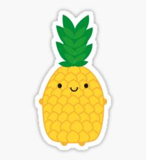 Cartoon Pineapple Stickers Redbubble