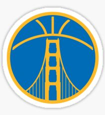Warriors The Bridge - Gold on Blue Sticker