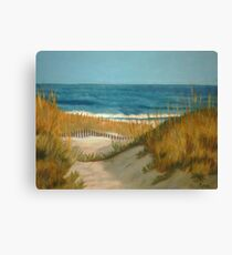 Between The Dunes Sand Dune Canvas Print