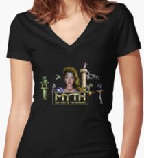 Gaming [C64] - Myth: History in the Making Women's Fitted V-Neck T-Shirt