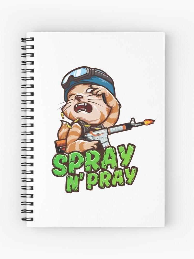 Spray N Pray Csgo Spiral Notebook By Entrykill Redbubble