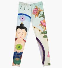 Healing Buddha - Kundalini Attaining Enlightenment  Leggings