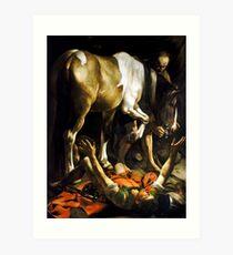 Caravaggio Conversion on the Way to Damascus Art Print