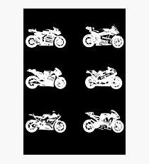 MotoGp 2017 Bikes (White) Photographic Print