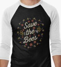 Rette die Bienen Baseballshirt für Männer
