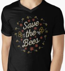 Save the Bees Men's V-Neck T-Shirt