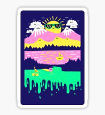 Happy Lake Sticker