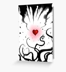 Heart's release Greeting Card